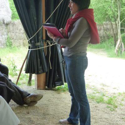 Sandrine à la mise en scène